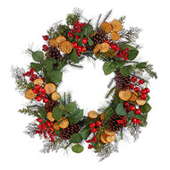 26 Inch Mixed Berry and Orange Slice Wreath, Holiday Wreath, Christmas Wreath, Everyday Wreath
