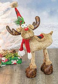 SAFA Ruby Plaid Standing Moose, Christmas, Holiday, Whimsical Gifts