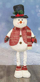 SAFA Holly Frost Snowman Man, Stretches to 3 feet, Christmas, Holiday, Whimsical Gifts