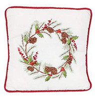 Shopafoodieaffair Christmas Wreath Square Pillow
