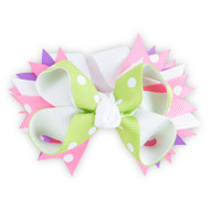 Purple, Pink & Green Childs Hair Clip 1