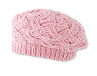 Baby Girls Crochet Pink Tam Hat