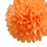 """Orange 6"""" Party Tissue Pom Pom, Set of 8"""