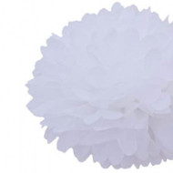 "White 14"" Party Tissue Pom Pom, Set of 4"