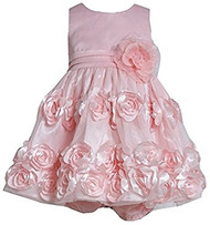 Baby Girls Bonnie Jean Light Pink Bonaz Party Dress (24 months)