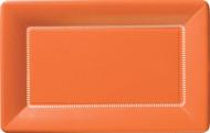 """9"""" Cafe Paper Plate - Orange"""