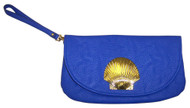 Mud Pie Sealife Icon Blue Wristlet