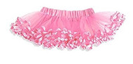 Baby Girl Party Pink Tutu with Polka Dot Ruffle, 3-18 Months