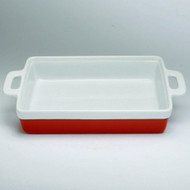 Red & White Rectangular Baker