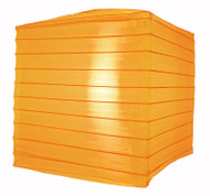 "10"" Orange Nylon Square Lantern"