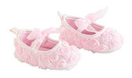 Baby Girls Pink Lace Shoes 12-18 months