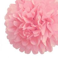 """Baby Pink 14"""" Party Tissue Pom Pom, Set of 4"""