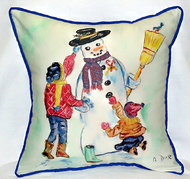 Snowman Large Pillow