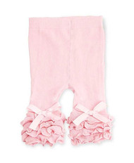 Baby Girls Baby Pink Ruffle Legging, Tights