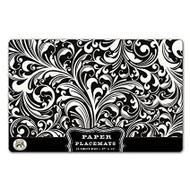 Black Fillagree Paper Placemats