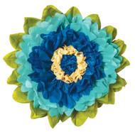 Tissue Paper Flower - Cobalt & Robin Egg 15 Inch