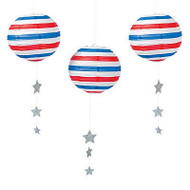 "Patriotic Paper Lantern - 12"" - Set of 3"