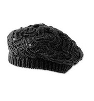 Baby Girls Crochet Black Tam Hat