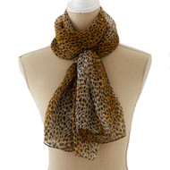 Sheer Animal Print Scarf