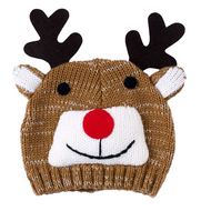 Unisex Baby Pull On Reindeer Hat