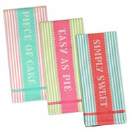 DII Sweet Sayings Dish Towels - Set of 3