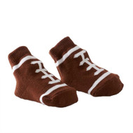Baby Boy Brown Football Bootie Socks