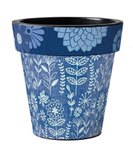 "Studio M Sunprint Botanical 15"" Art Pot Planter"