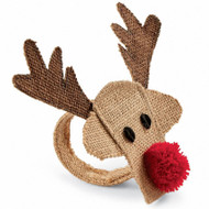 Mud Pie Reindeer Napkin Rings - Set of 4