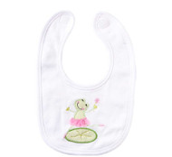 Bib with Frog Print Applique