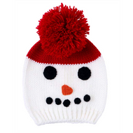 Unisex Baby Pull On Snowman Hat