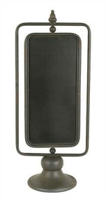 Gray Metal 2-Sided Chalkboard On Stand