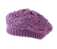 Baby Girls Crochet Purple Tam Hat