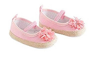 Baby Girls Pink Shoes with Flower 12-18 months