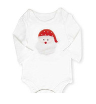 Santa Appliqued One Piece Bodysuit (0-6 months)