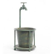 15 Inch 1 Tin Water Faucet Plant Holder