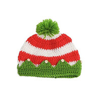 Unisex Baby Hand Crocheted Elf Hat