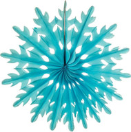 Turquoise 14 Inch Paper Sunburst Honeycomb Decoration