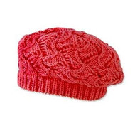 Baby Girls Crochet Red Tam Hat