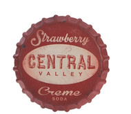 "13.5"" Strawberry Cream Soda Wall Sign"