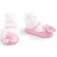 Baby Girl Light Pink Knit Maryjane Booties, Socks, 0-12 Months