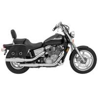 Honda 1100 Shadow Spirit Shock Cutout Large Slanted Leather Saddlebags 1