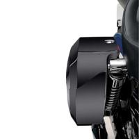 Honda 700 Shadow VT700 Lamellar Shock Cutout Painted Large Hard Saddlebags