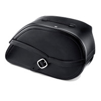 Honda 750 Shadow ACE Armor Shock Cutout Leather Saddlebags