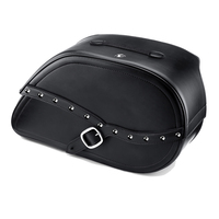 Honda 750 Shadow Aero Armor Shock Cutout Studded Leather Saddlebags