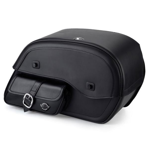 Honda 750 Shadow Aero Side Pocket Leather Saddlebags 1