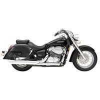 Honda 750 Shadow Aero Side Pocket Leather Saddlebags 2