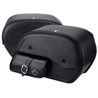 Honda 750 Shadow Aero Side Pocket Leather Saddlebags 4