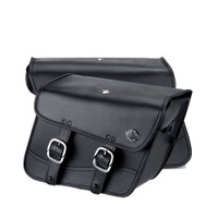 Honda 750 Shadow RS Spear Thor Series Small Leather Saddlebags