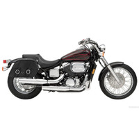 Honda 750 Shadow Spirit Charger Medium Slanted Leather Saddlebags 2