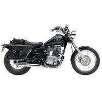 Honda CMX250C Rebel 250 Charger Braided Leather Saddlebags